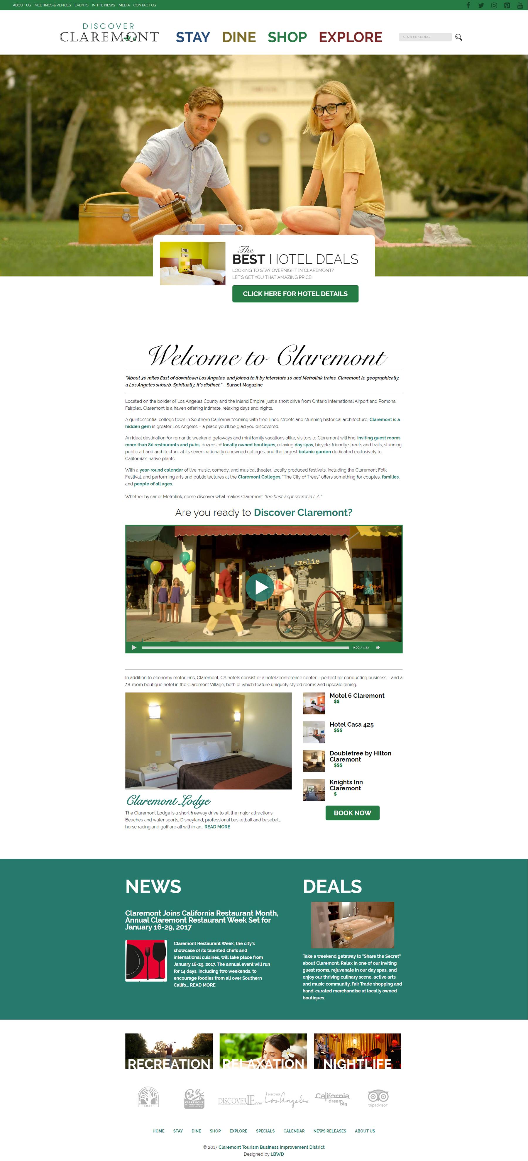 Discover Claremont Long Beach Web Design Web Design E Commerce Hosting Graphic Design In Long Beach Ca