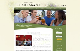Discover Claremont website design